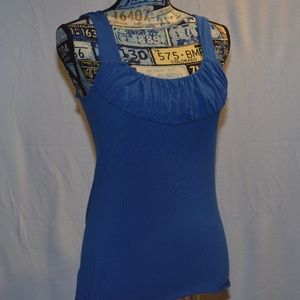INC Royal Blue Petite Small Tank